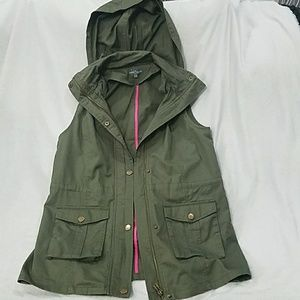 Green Military Style Vest